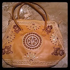 Gently Used Beaded Leather Purse